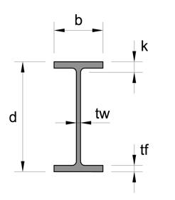 Stainless Steel Wide Flange Beam W Beam drawing